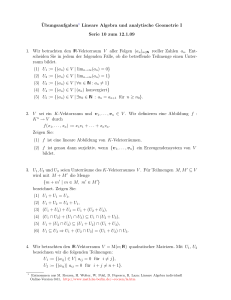 Lineare Algebra individuell