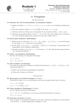 A Analysis I - TU Darmstadt/Mathematik