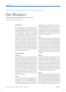 Der Blutsturz - Swiss Medical Forum