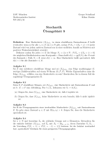 Stochastik ¨Ubungsblatt 9 - Department Mathematik