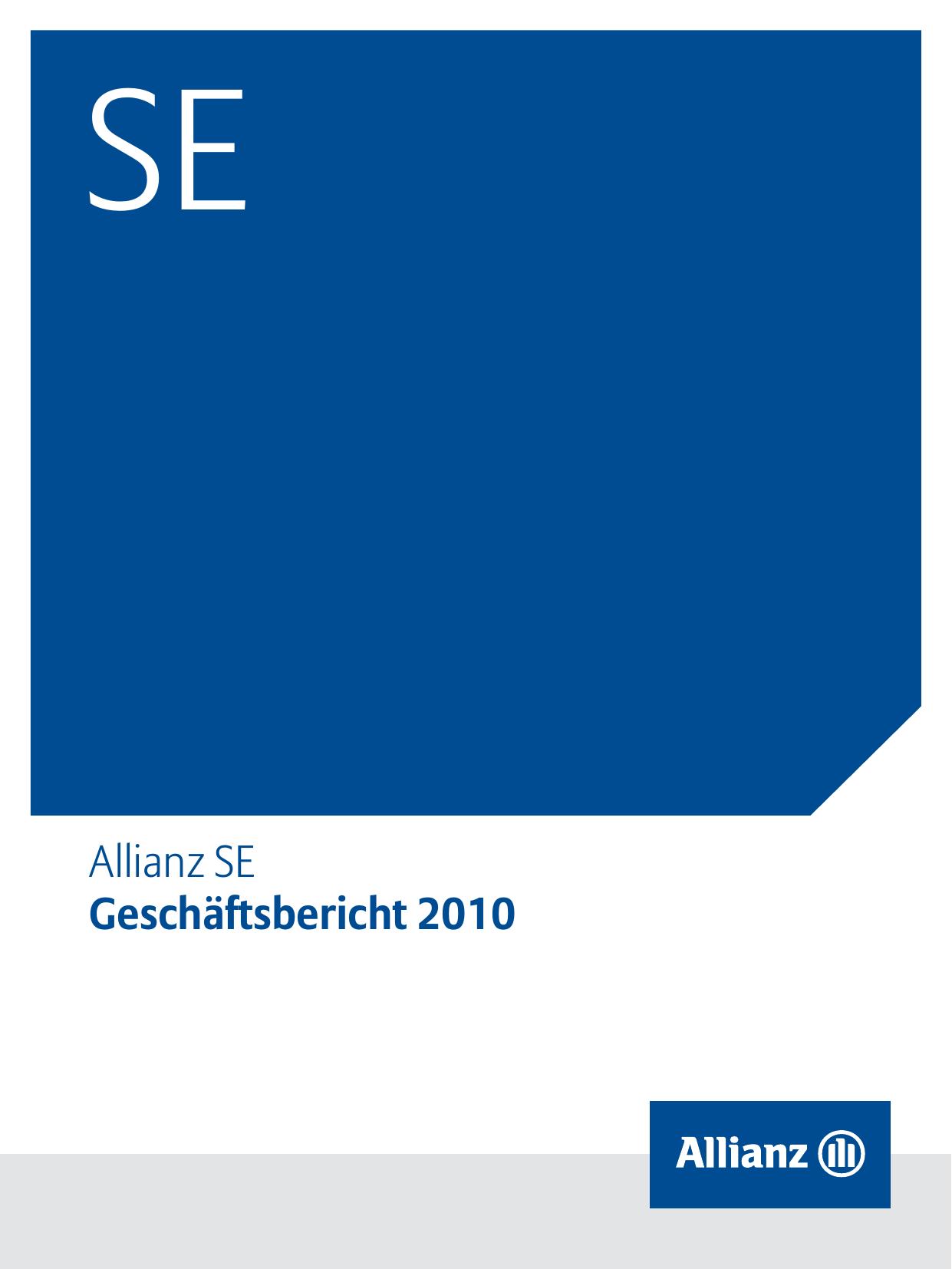 Allianz Se Geschaftsbericht 2010