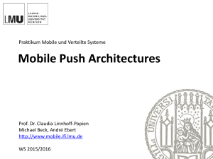 RESTful web services and mobile push architectures