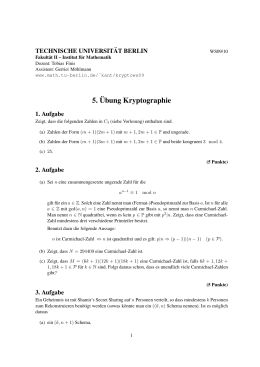 5.¨Ubung Kryptographie