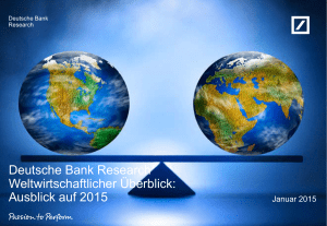 Deutsche Bank Research The House View