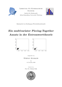 Ein multivariater Piecing-Together Ansatz in der Extremwerttheorie