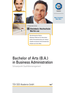 Bachelor of Arts in Business Administration mit