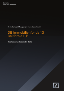 DB Immobilienfonds 13 California LP