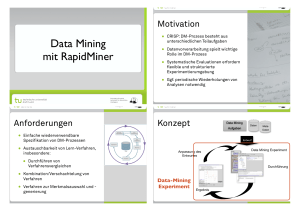 Data Mining mit RapidMiner