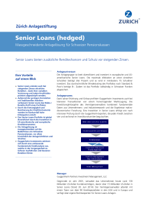 Senior Loans (hedged)
