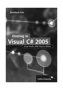 Einstieg in Visual C# 2005 - EDV