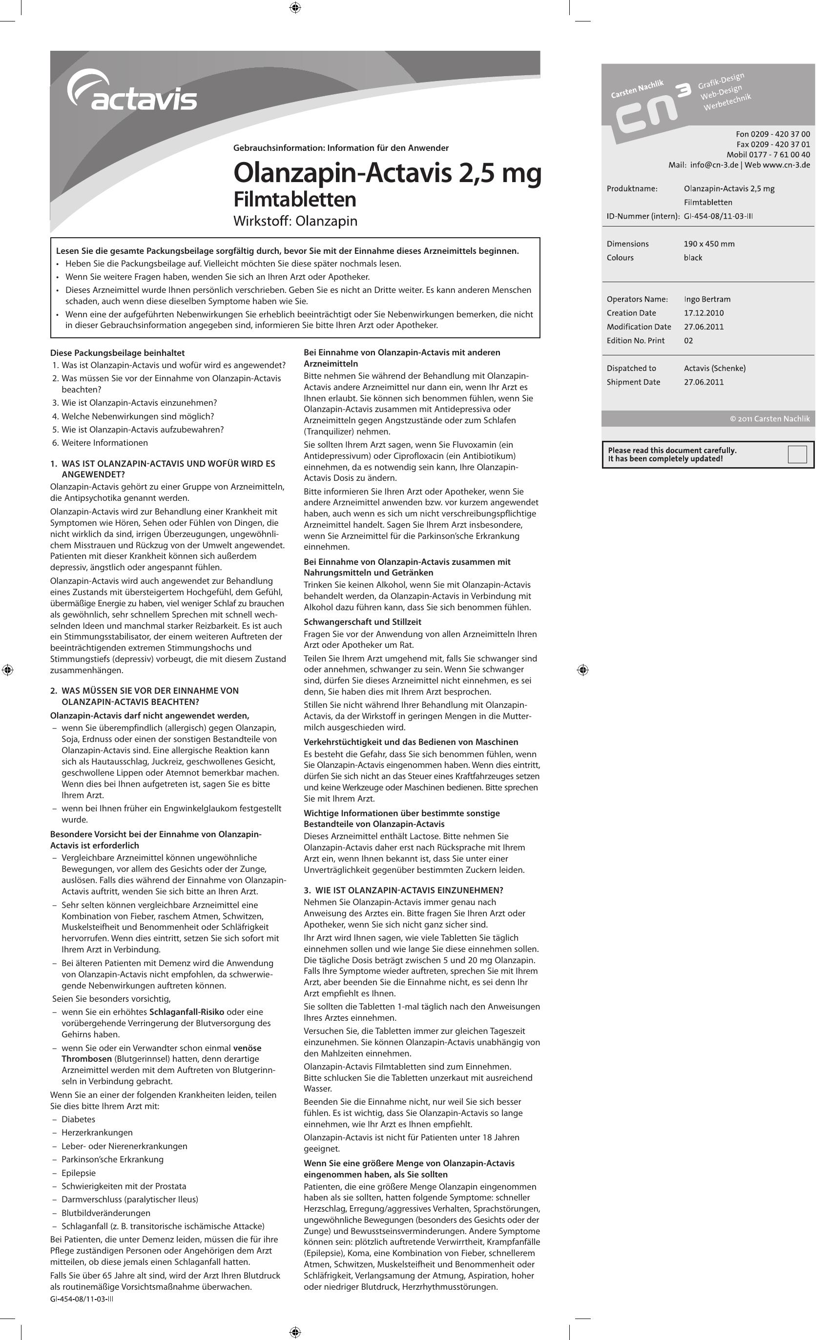 stimmungsstabilisator olanzapin 5mg