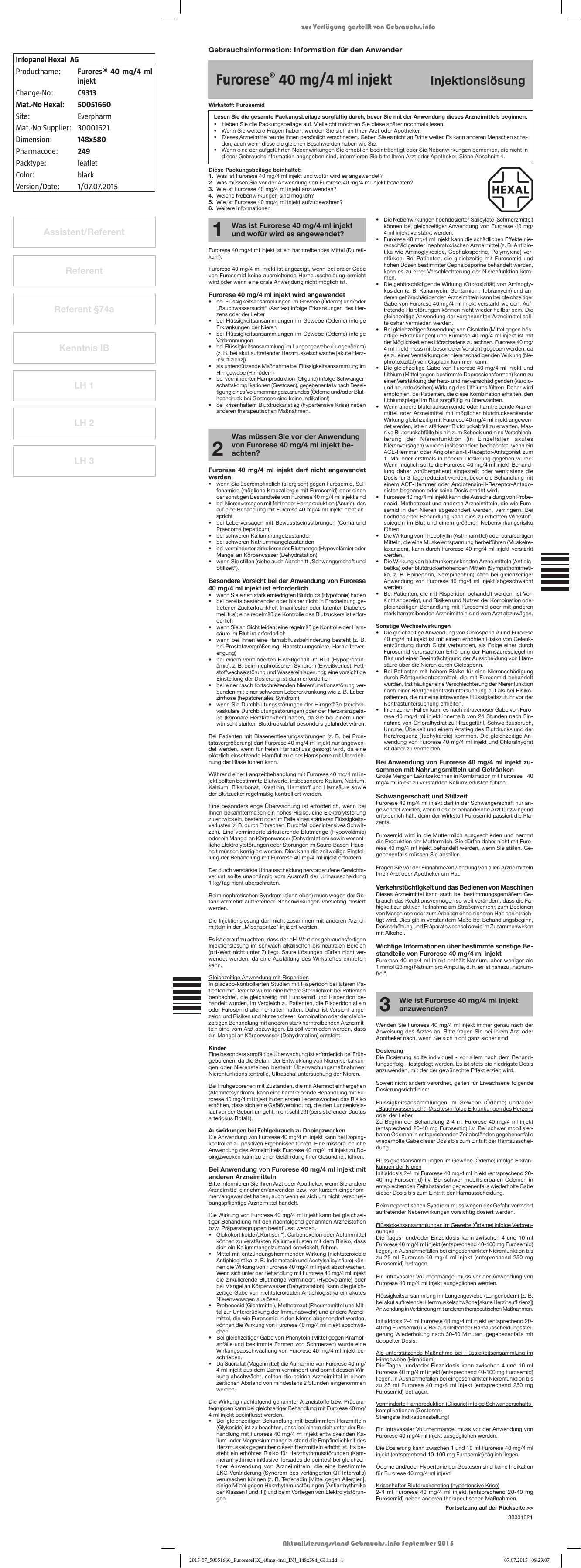 Furorese® 40 mg/4 ml injekt - Shop