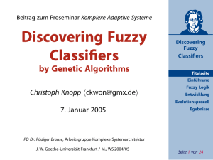 Discovering Fuzzy Classifiers - Goethe