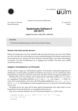Systemnahe Software II (SS 2017)