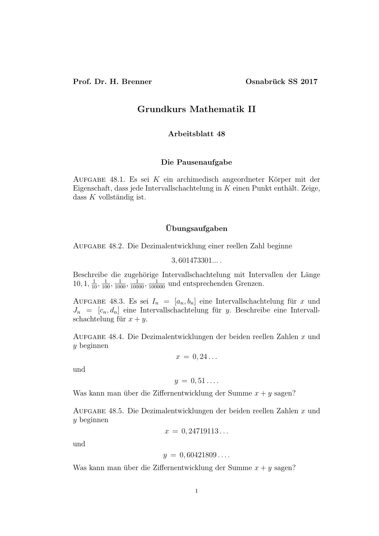Grundkurs Mathematik II