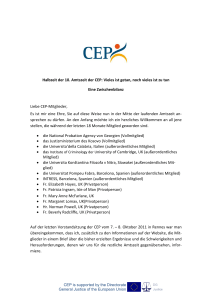 The CEP`s Tenth term: Much done, much to do