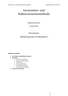 Invarianten- und Halbinvariantenmethode - KIT