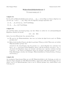 Tutoriumsblatt 5