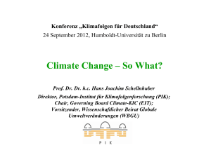 Climate Change – So What? - Potsdam Institute for Climate Impact
