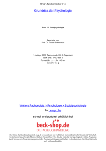 Grundriss der Psychologie - Toc - Beck-Shop