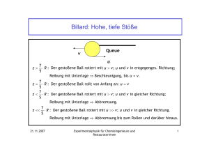 Billard - Physik