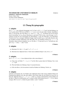 13.¨Ubung Kryptographie