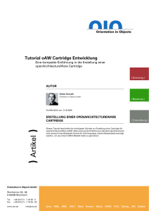 Tutorial zur openArchitectureWare Cartridge mit Beispiel