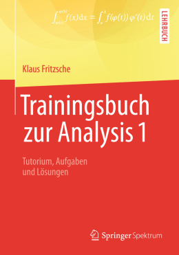 1 Die Sprache der Analysis