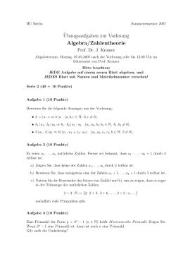 Arbeitsblatt 3 ¨Ubungen zu Mathematik I für das Lehramt an der