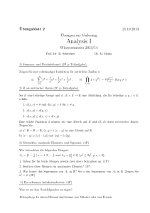 Analysis I - Mathematik, TU Dortmund