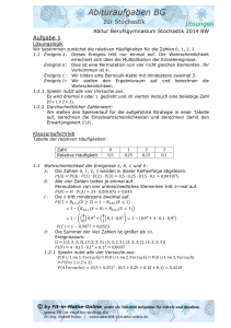Abitur BW 2014 - Fit in Mathe Online