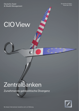 CIO View - Deutsche Asset Management