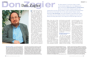 Don Zagier - Max Planck Institute for Mathematics