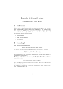 Logics for Multiagent Systems