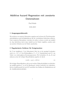 Additive hazard Regression mit zensierte - staff.uni