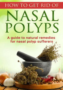 Nasal Polyps Treatment Miracle Manuel Richards PDF EBook