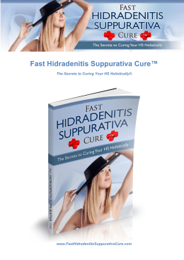 Fast Hidradenitis Suppurativa Cure Therese Wilson PDF EBook