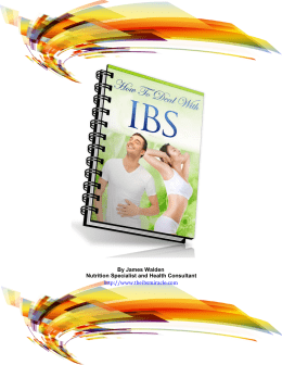 The IBS Miracle James Walden PDF EBook