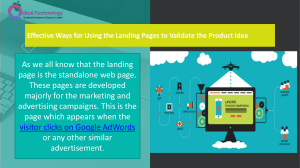 More About Landing Pages
