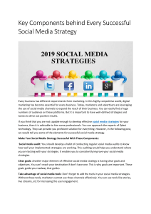 Key Components behind Every Successful Social Media Strategy
