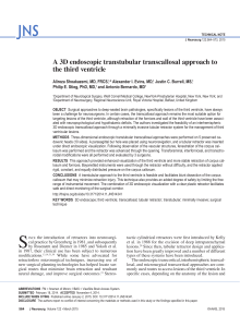 A 3D endoscopic transtubular transcallosal approach to the third ventricle